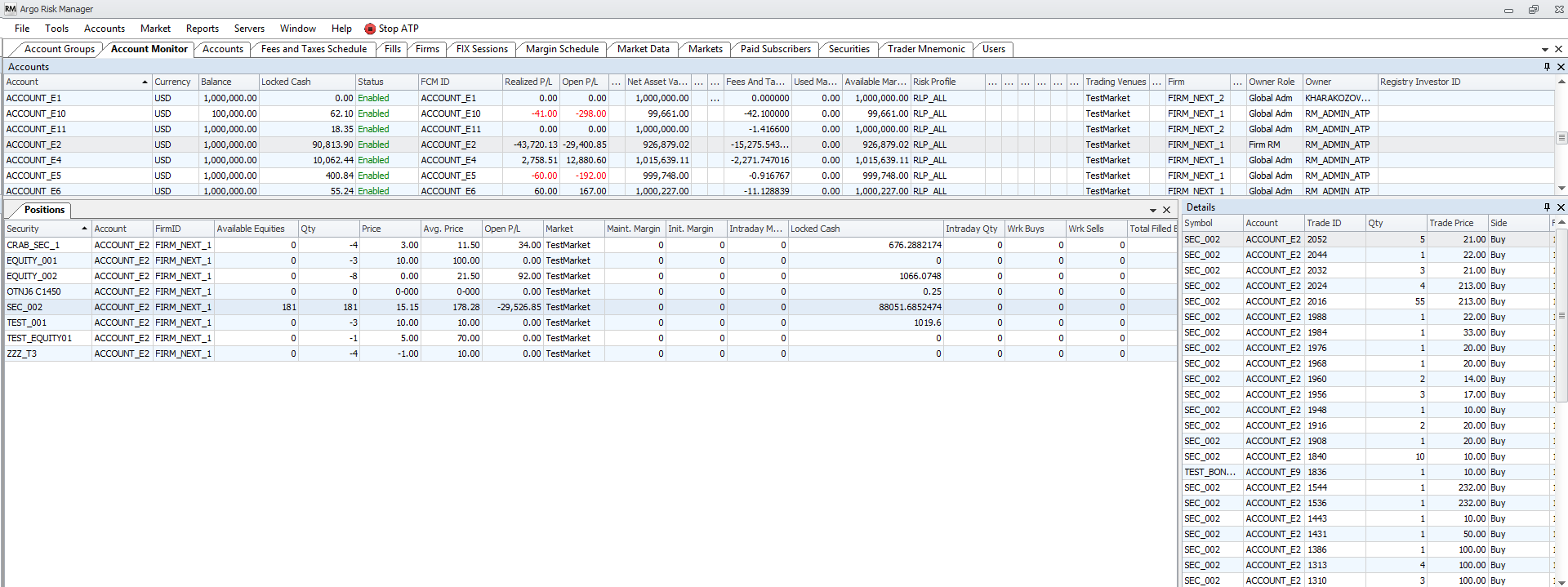 Sef trading system