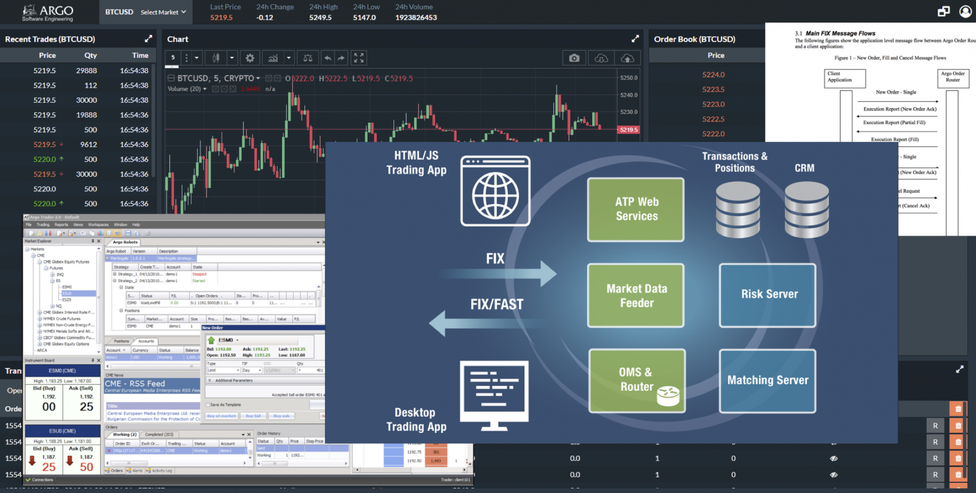 Ion trading financial software systems